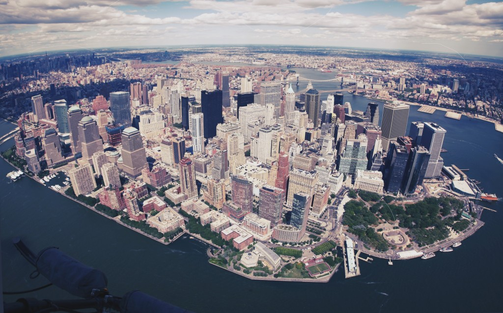New York from a helicopter