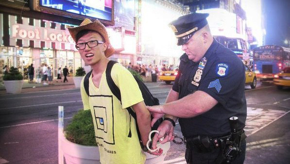 dude arrested on times square