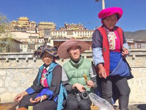 Friendly Hawkers outside Song Zanlin Monastery didn't shy away from cameras. Just always remember to be polite and ask for permission before taking pictures of them, I know you really like their fashion choices.