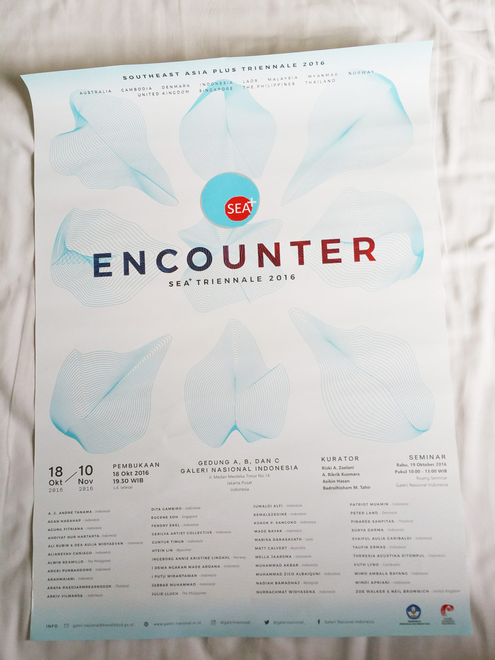 ENCOUNTER Sea+ Triennale poster