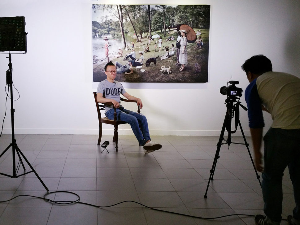 Video interview with Andang Iskandar infront of my work at the National Gallery of Indonesia